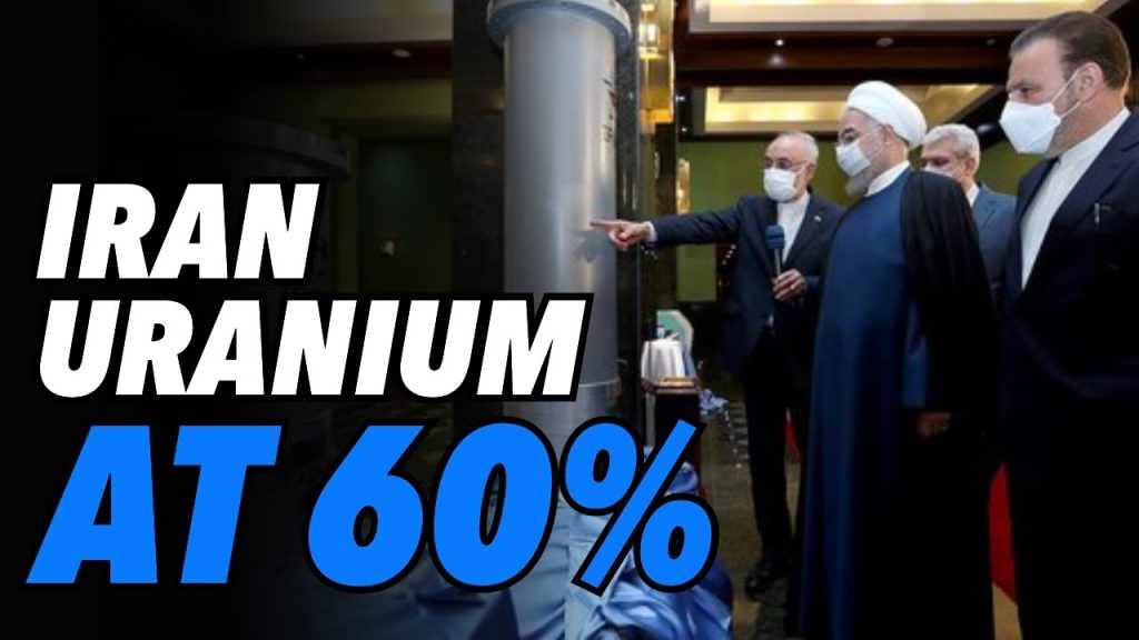 Iran enriching uranium at 60%. A dangerous level and a big gamble