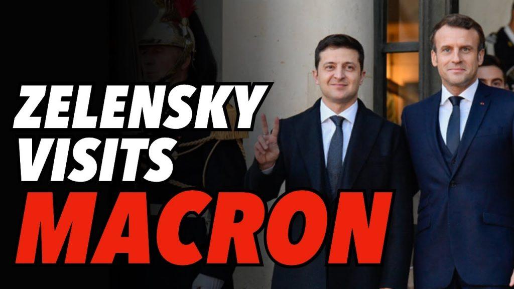 Zelensky Visits Paris, Speaks With Macron and Merkel, Macron Wants Call to Putin