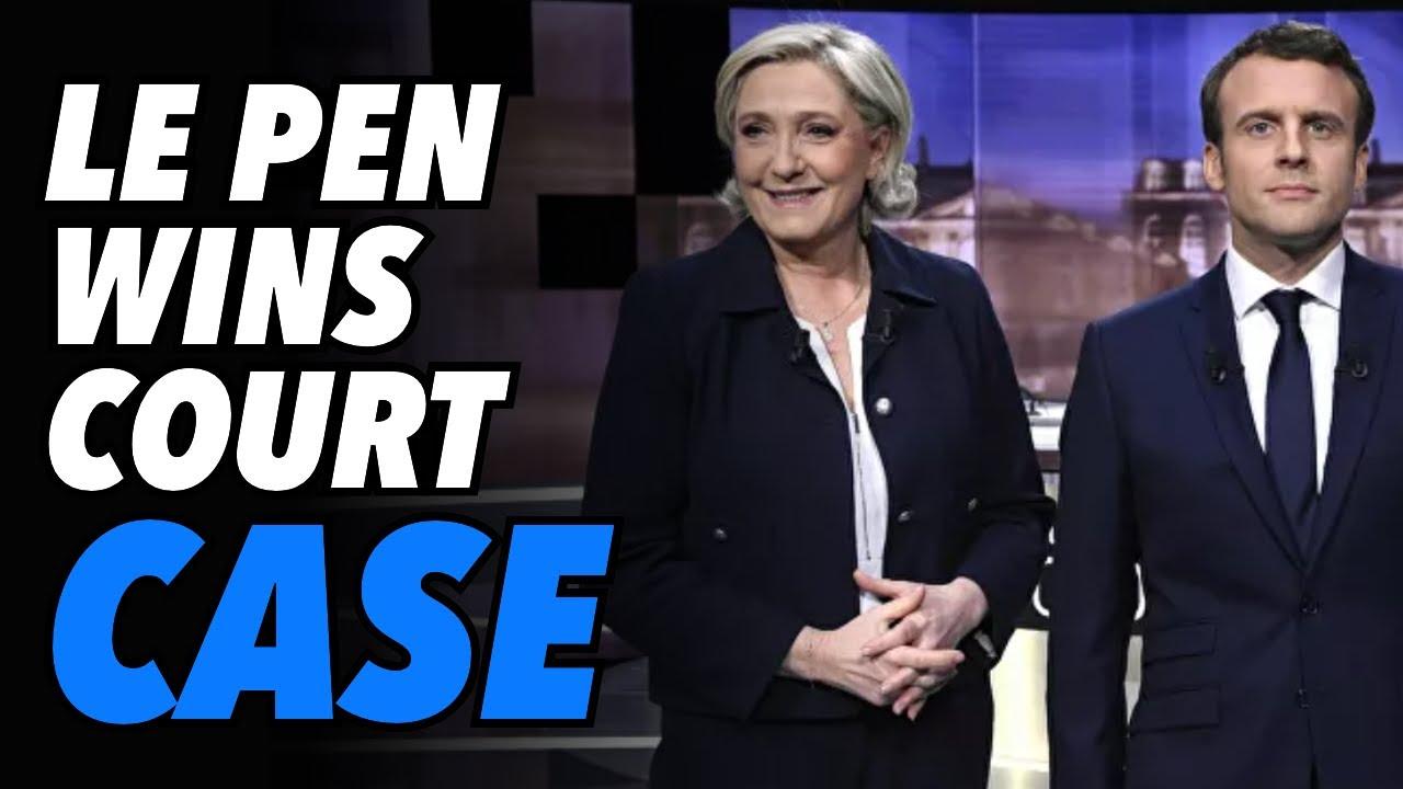 Macron panics as Le Pen WINS hate speech court case